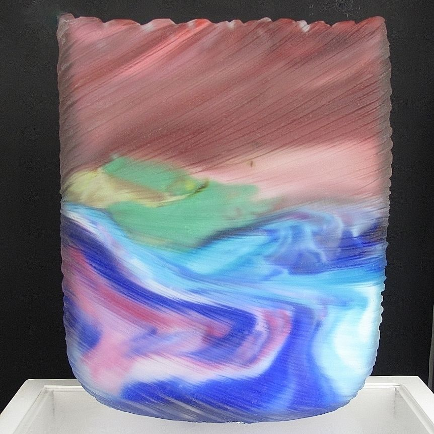 Ocean Swell - hand-blown, hand-carved glass by Tim Shaw