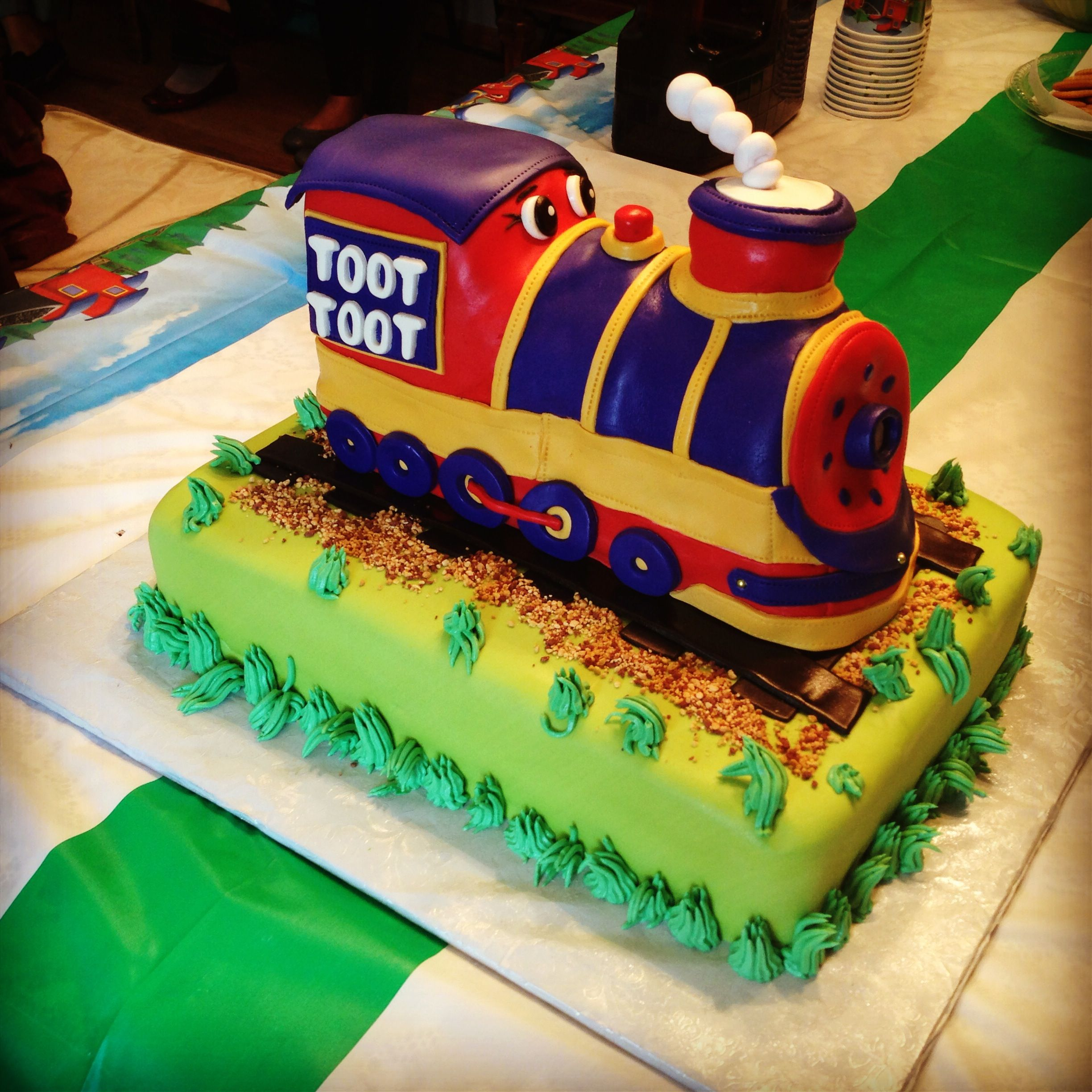 Fantastic Choo Choo Train Birthday Cake Train Birthday Cake Cake Train Personalised Birthday Cards Veneteletsinfo