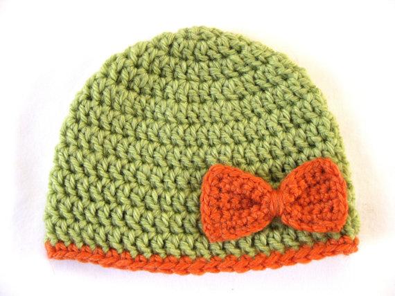 Preemie Hat Pattern Bow Crochet Baby Beanie Pdf Flower Girl Edge