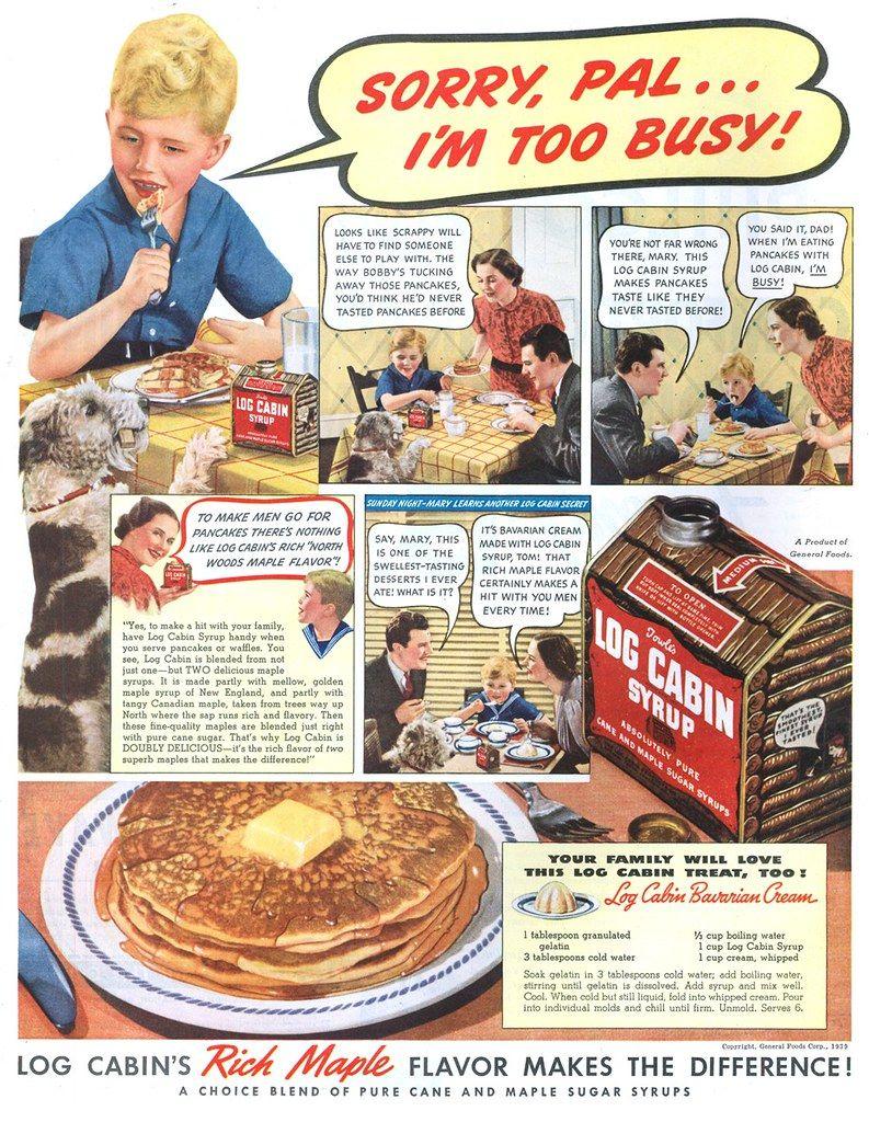 Log Cabin Syrup 19390513 Post Vintage Ads Food Vintage Recipes General Foods