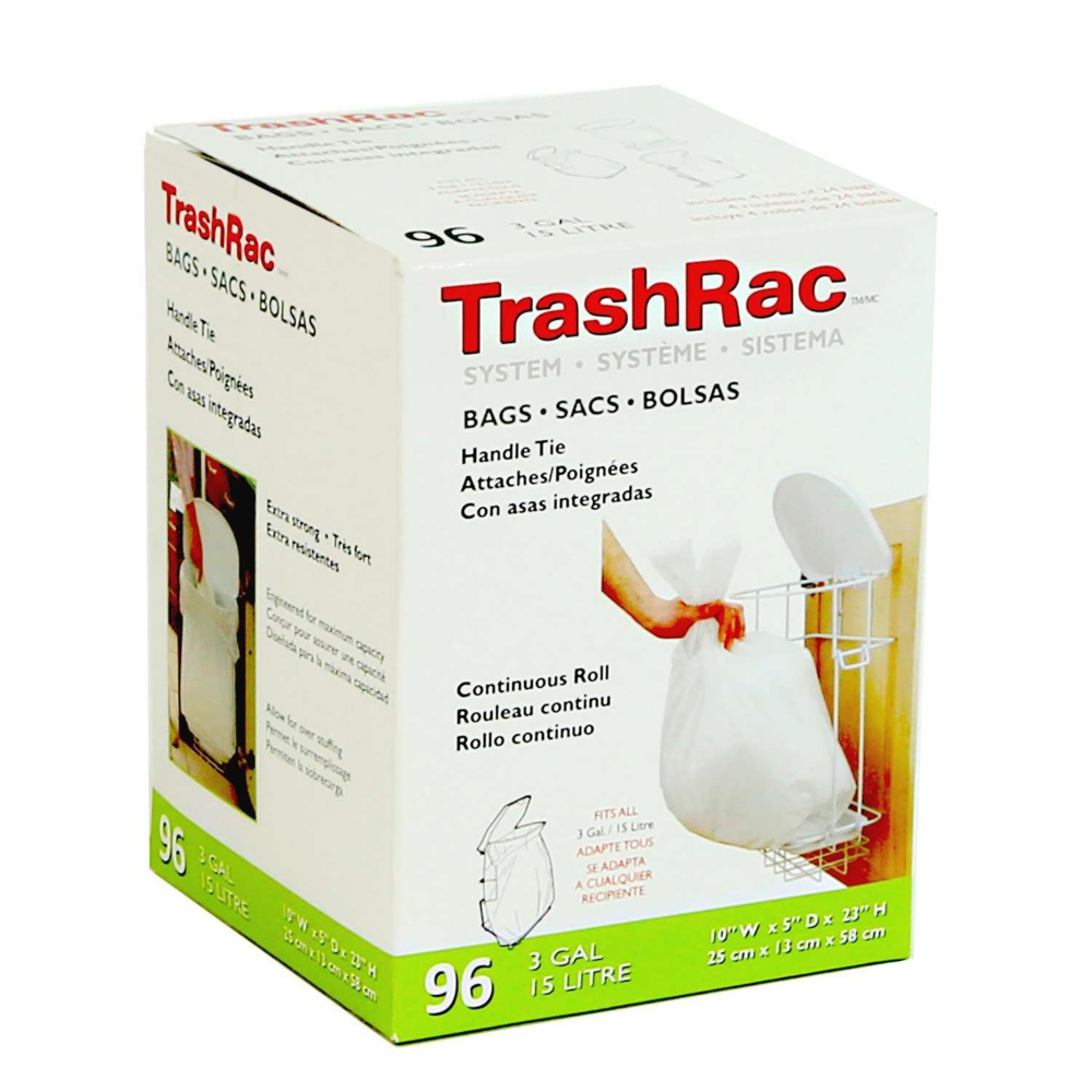 100Pcs Trash Bags 4Gallon Handle Tie Small Garbage Bags For Home Kitchen Bedroom