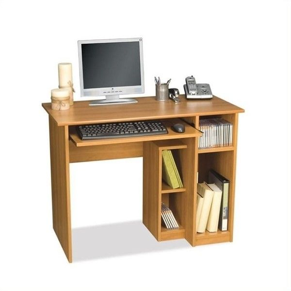 Bestar Basic Small Wood Computer Desk 109 Liked On Polyvore Featuring Home Furniture De Small Computer Desk Computer Desk Design Computer Desks For Home Small computer desks for sale
