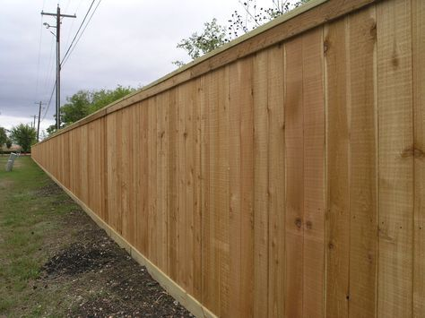 Fence Project of the Week Western Red Cedar Privacy Fence w/ Top