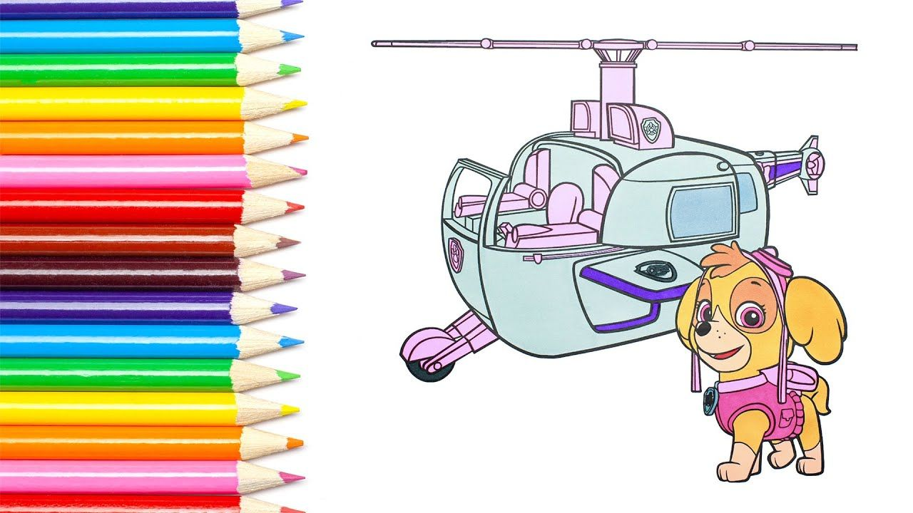 Paw Patrol Puppy Skye And Her Helicopter Coloring Book Baby Safary Coloring Books Paw Patrol Coloring Pages