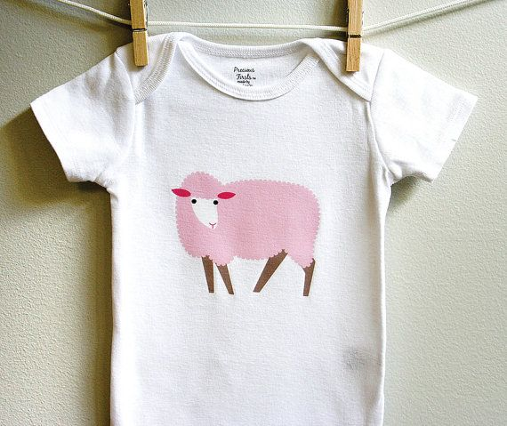 Baby Girl Clothes Sheep Pink Cute And By Squarepaisleydesign Baby