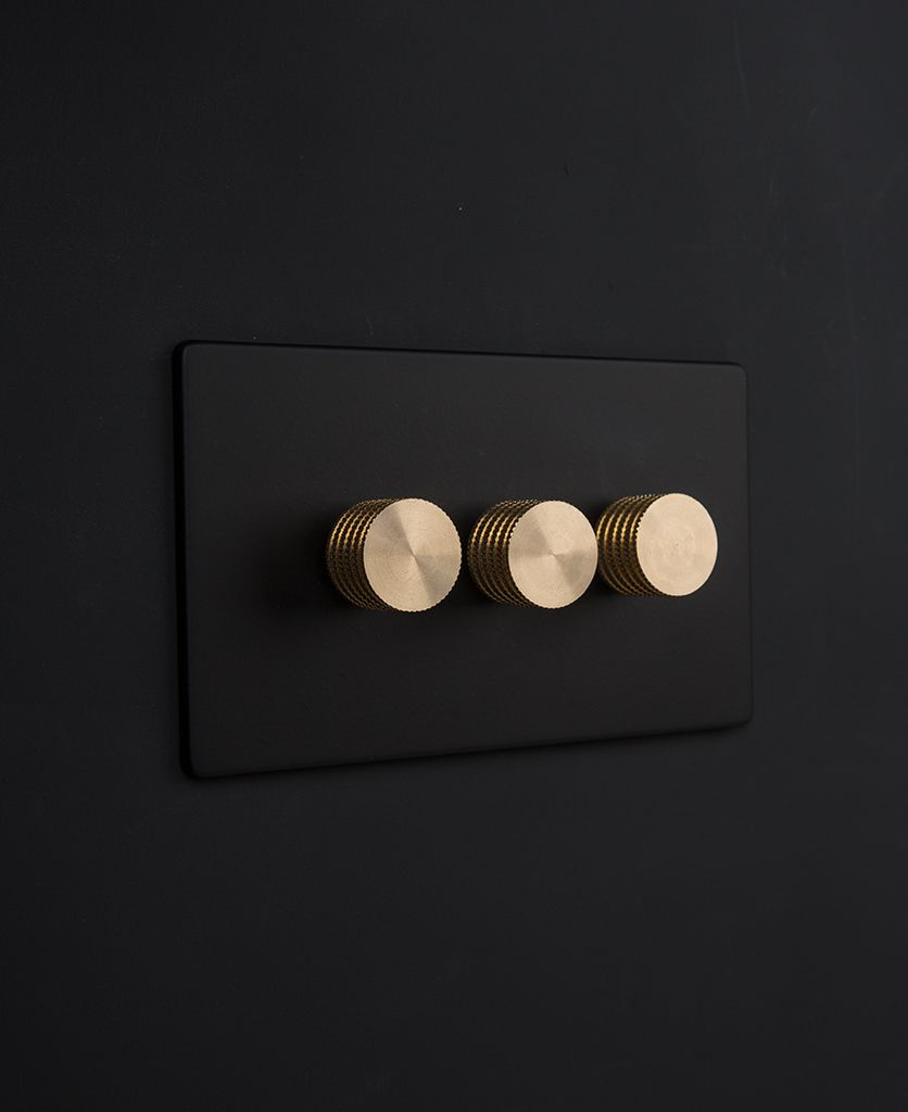 Designer Dimmer Switch Treble Black Dimmer Switch Light Switches And Sockets Modern Light Switches Dimmer Switch