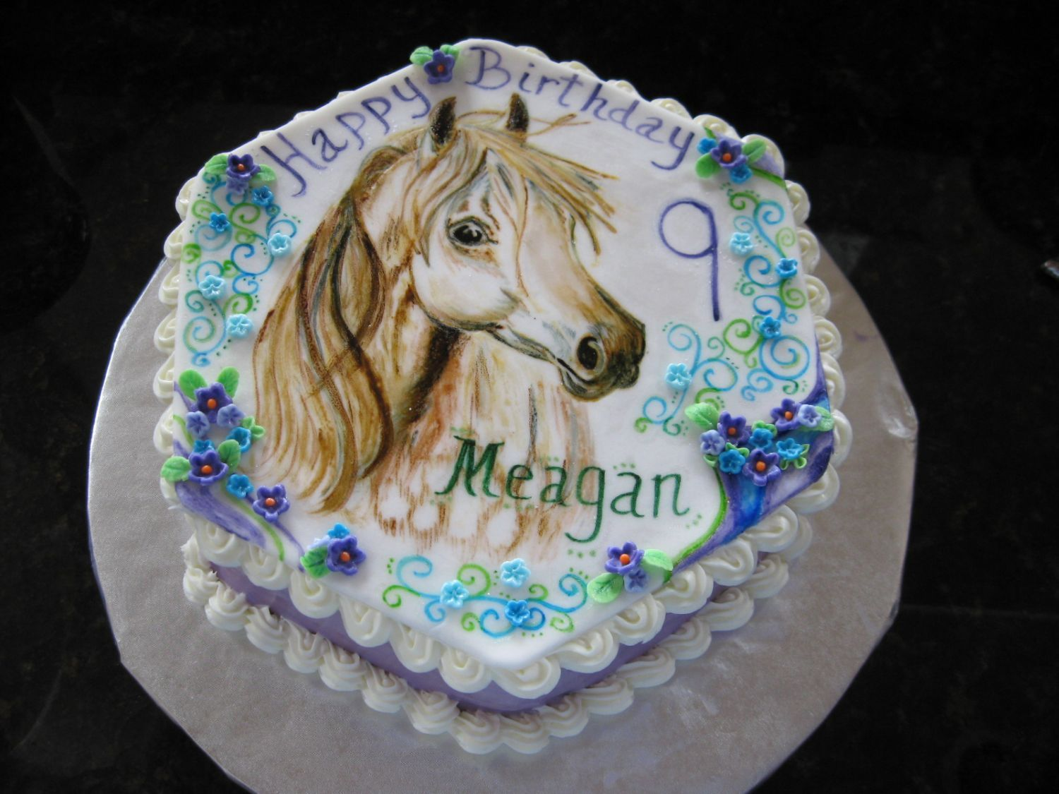Horse Cake Arabian Horse  Childrens Birthday Cakes My Kiddos - Horse themed birthday cakes