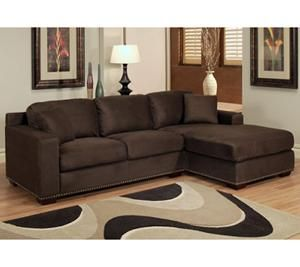 Nebraska Furniture Mart – Abbyson Living Monrovia Sectional Sofa in Dark Brown