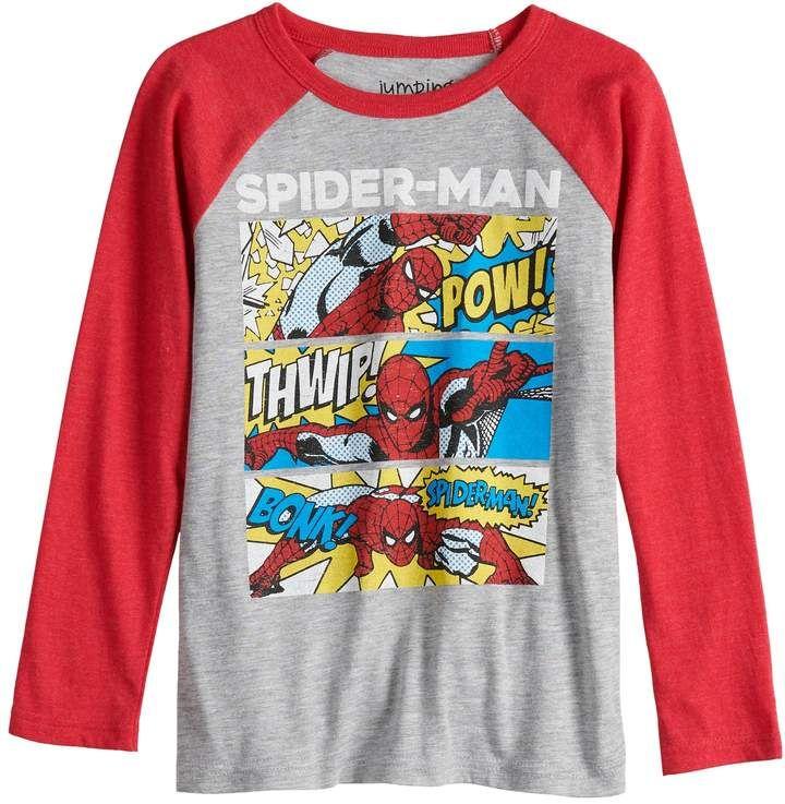 b1ca258d1 Boys 4-12 Jumping Beans® Spider-Man Comic Strip Raglan Graphic Tee ...