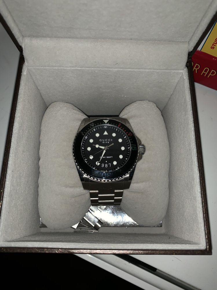 6c8702c9040 Gucci dive 45mm xl men s watch 200m w box