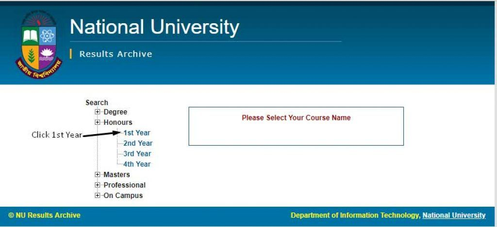 Honours 1st Year Result 2018 1 Year Honor Years