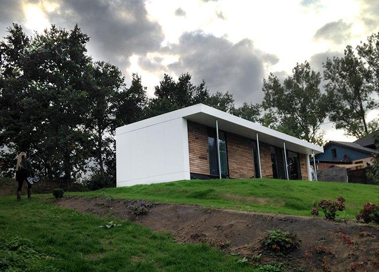 neues wohnen im cubig designhaus minihaus haustr ume pinterest minihaus neuer und wohnen. Black Bedroom Furniture Sets. Home Design Ideas