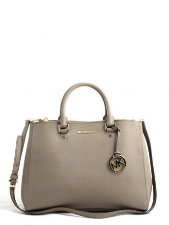 Michael Kors-sutton dark dune leather bag-borsa in pelle color tortora-Michael  Kors bags shop online 6df54b507a