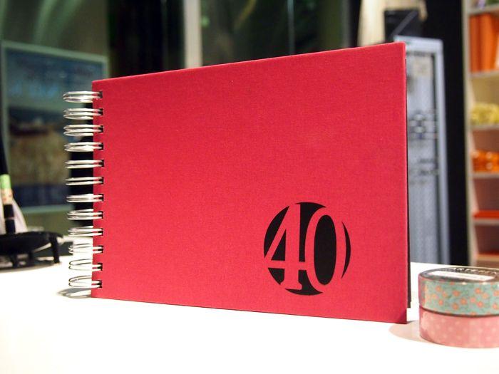 Libro De Firmas Para Un 40 Cumpleaños Librofirmas