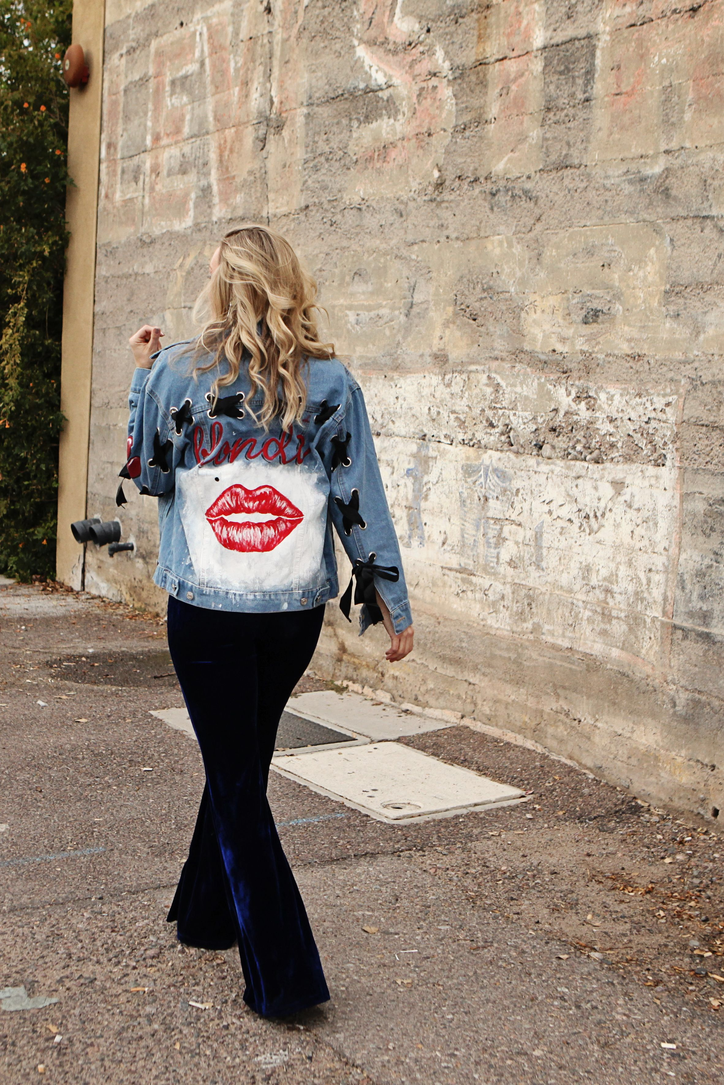 d4fcaf6e7 Marilyn Monroe famous lips hand painted denim jacket in 2019 | BAD ...