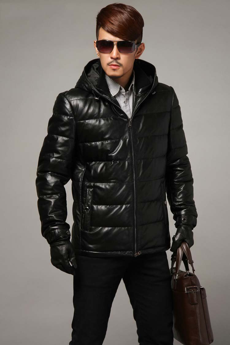 Feather Leather Winter Coats For Men | Fashideas.com | Mens Winter ...