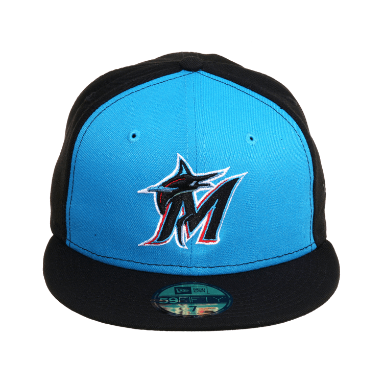 huge discount limited guantity buy Exclusive New Era 59Fifty Miami Marlins Rail Hat - Black, Neon ...