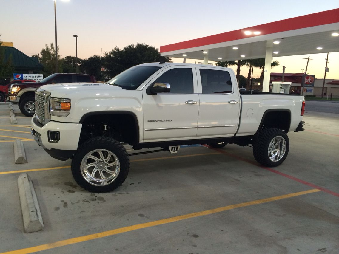 American force 2015 denali gmc diesel hd white 6inch lift 3rd coast