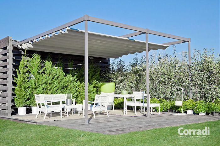 aluminium pergola pvc with canvas sliding cover landscaping outdoor pinterest freisitz. Black Bedroom Furniture Sets. Home Design Ideas