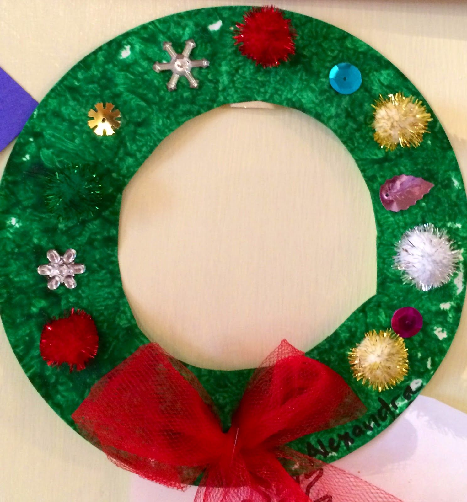 Christmas Wreaths Out Of Paper Plates