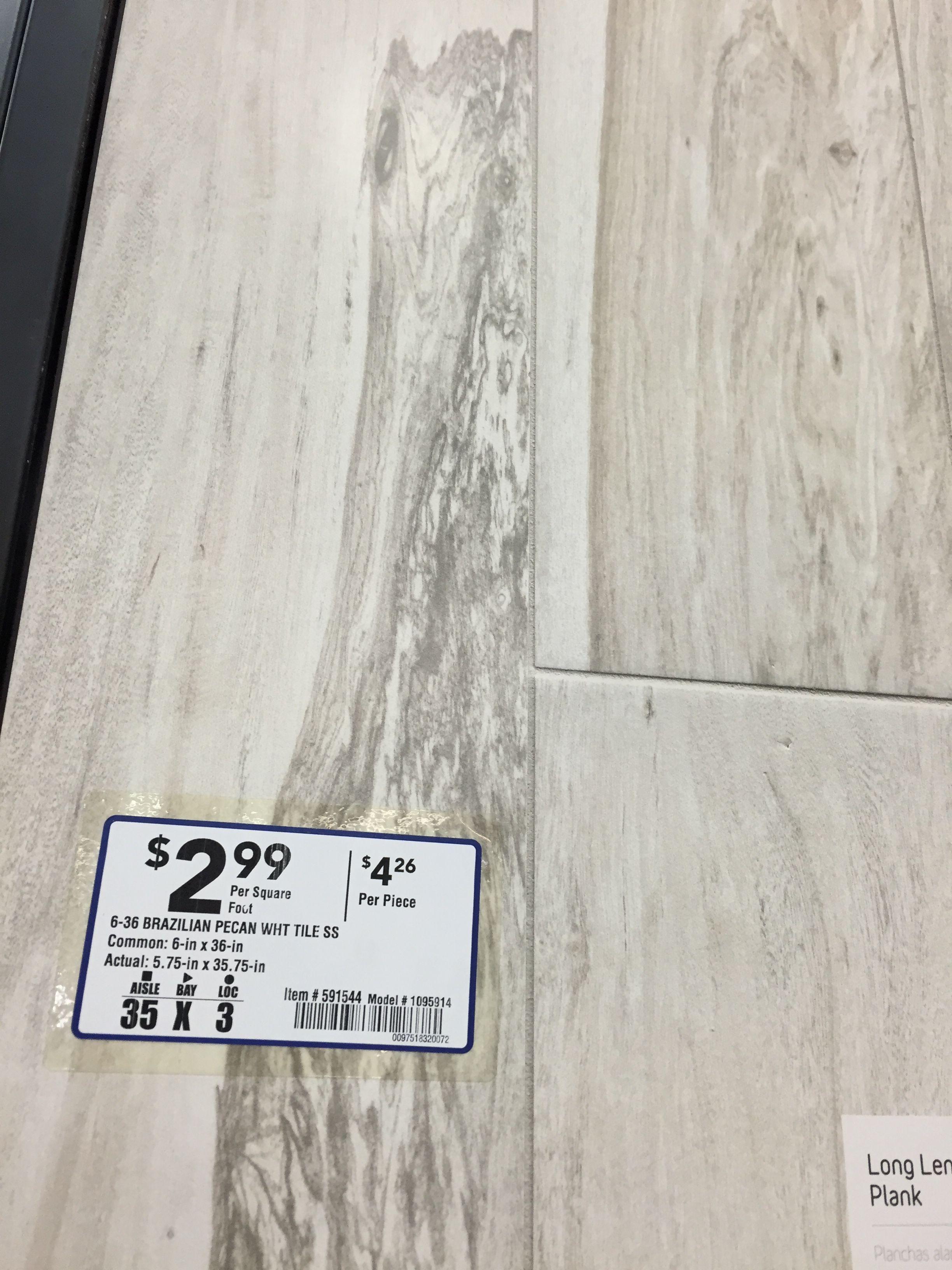 American Orlean 6x36 Tiles Brazilian Pecan White Item 3591544 2 99 Sf Lowe S Shower Floors And Walls Lowes Tile White Bathroom Tiles Flooring