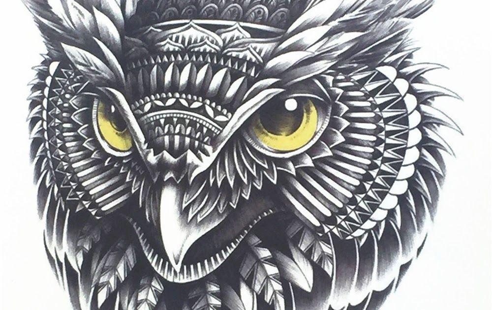 Desain Tato Burung Hantu