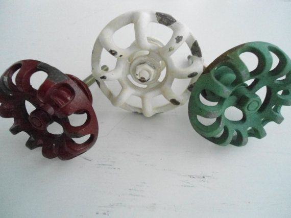 These 8 faucet handle knobs will give your furniture an old feel...This listing is for 8 faucet handle knobs. They measure 2 1/8 wide and come with