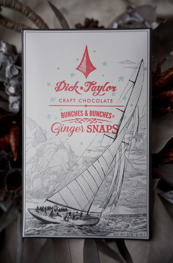 Dick Taylor Craft Chocolate ( CA. ) GINGER SNAP CHOCOLATE www.lancah.com