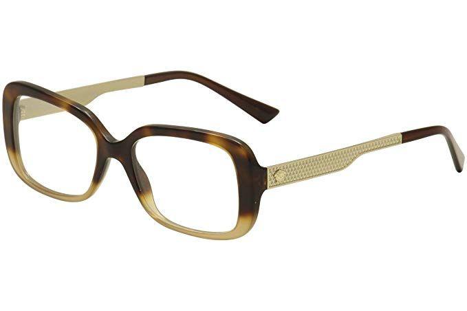 087f449aca5 Versace Eyeglasses VE3241 VE 3241 5205 Havana Gold Brown Optical Frame 52mm  Review