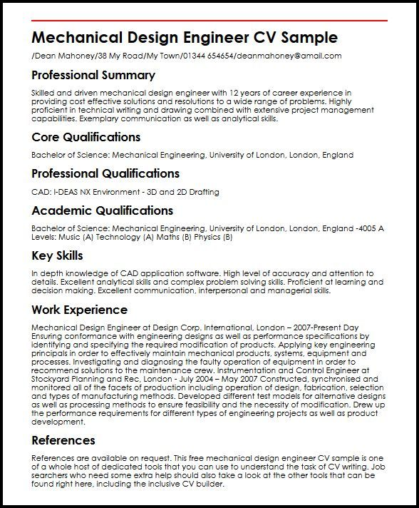 Problem Solving Resume Resume Examples Mechanical Engineer  Sample Resume And Resume Examples