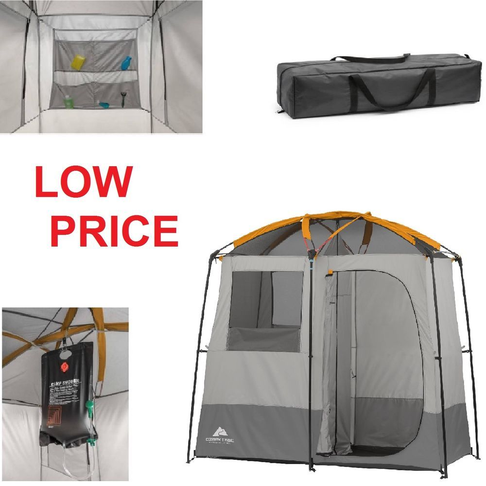 Ozark Trail 2 Room Camping Shower Tent Portable Bath Shelter
