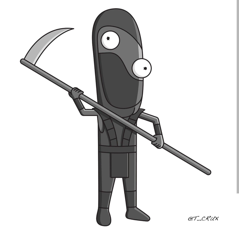 Rick and Morty x Noob Noob Saibot, Mortal Kombat | Rick and