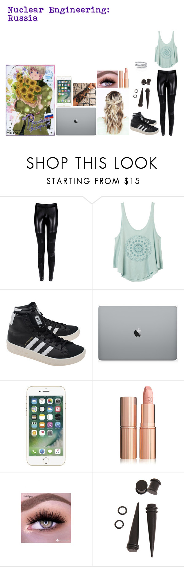 """Nuclear Engineering: Russia"" by xxtoo-happy-to-be-emoxx ❤ liked on Polyvore featuring RVCA and adidas Originals"