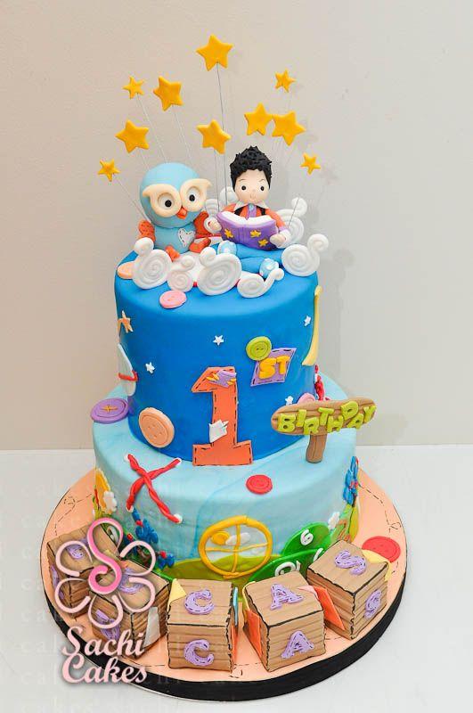 Giggle Hoot Cake Sachi Cakes Sydney Connors 1st birthday