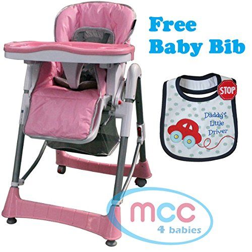 KIDS TOY PINK BABY FOLD ABLE CHAIR HIGH DOLL FEEDING SEAT GIRLS PLAY XMAS GIFT