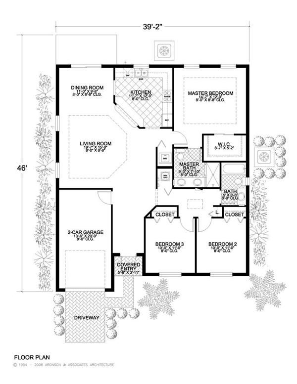 Neat and tidy yet spacious and comfortable house plan for Concrete block homes floor plans
