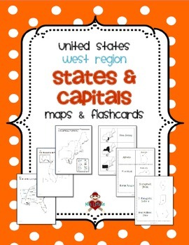 US West Region States Capitals Maps Flashcards UPDATED 2162014 - Outline Map Of West Region Of Us