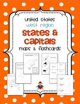 Us West Region States Capitals Maps