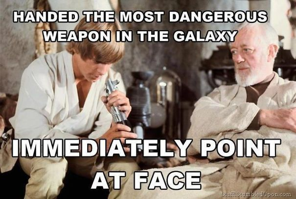 With Star Wars Episode Vll The Force Awakens Release Approaching Why Not Check This Incredibly Funny Memes Happy Star Wars Day Star Wars Jokes Star Wars Humor