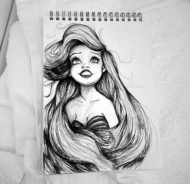 Ariel Tumblr Sketch Grunge Disegni Mermaid Disegni Disney Disegni