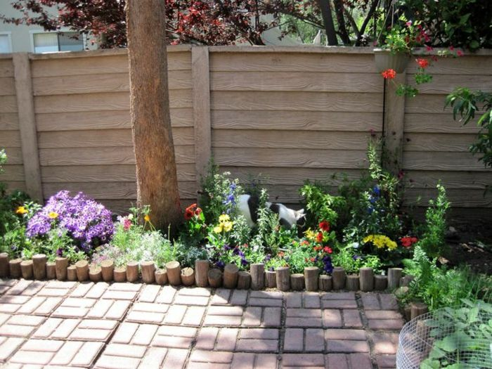 palisaden-holz-gartenideen-holzpalisaden-gartendeko, Gartenarbeit ideen