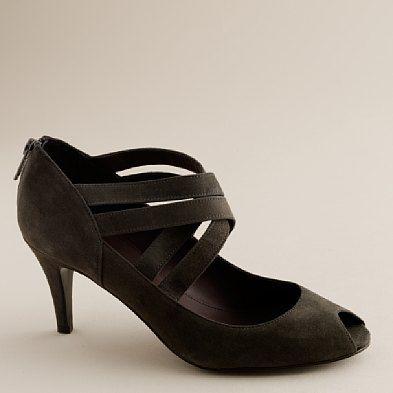 Crosstown peep toes