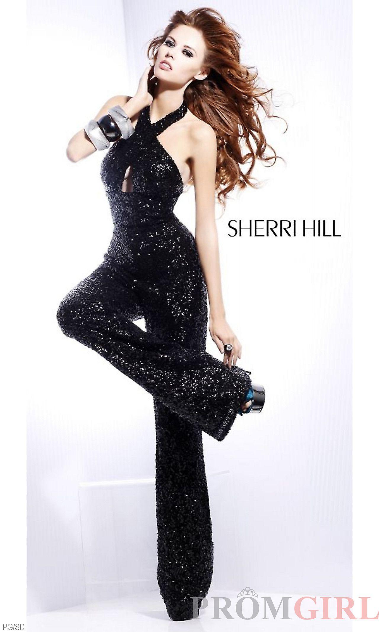 e20cbc43 black sequin halter pantsuit | fashion that I ❤ in 2019 ...