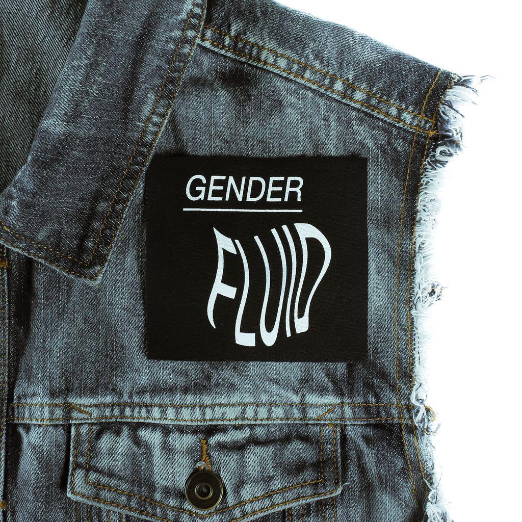 Gender Fluid Canvas Patch Goth Outfits Battle Jacket Gender