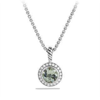 Petite Cerise Pendant with Prasiolite and Diamonds on Chain