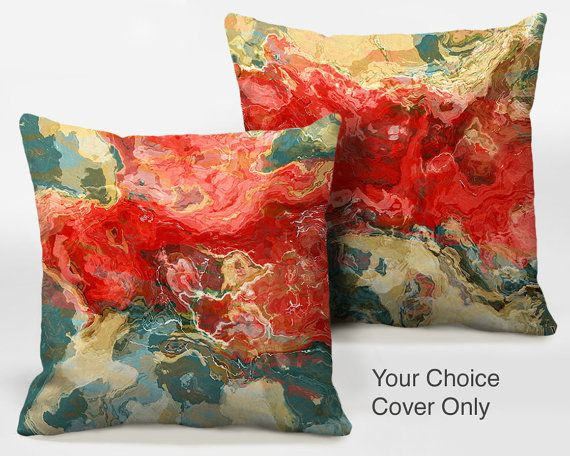 Decorative pillow cover with abstract art Cover Only by ArtPillow, $30.00