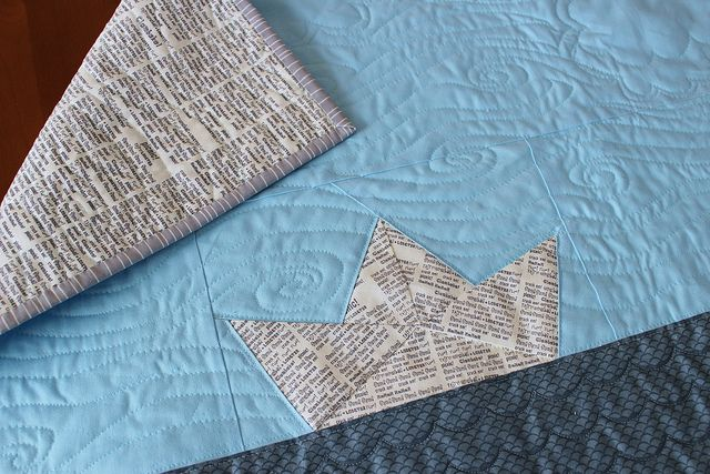 paper boat baby quilt | Flickr - Photo Sharing!