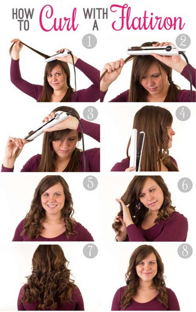 Hair Straightening Tutorials How To Curl Hair With A Straightener Looking For The Best Hair Straighte Flat Iron Hair Styles How To Curl Your Hair Hair Styles