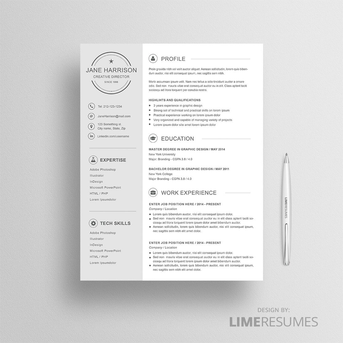 Minimalist Resume Template Minimalist Resume Design