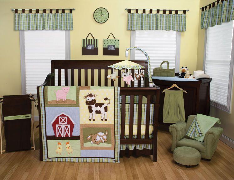 Baby Barnyard Country Farm Animal Theme 3 Piece Crib Nursery Set Crib Bedding Sets Crib Bedding Boy Crib Sets
